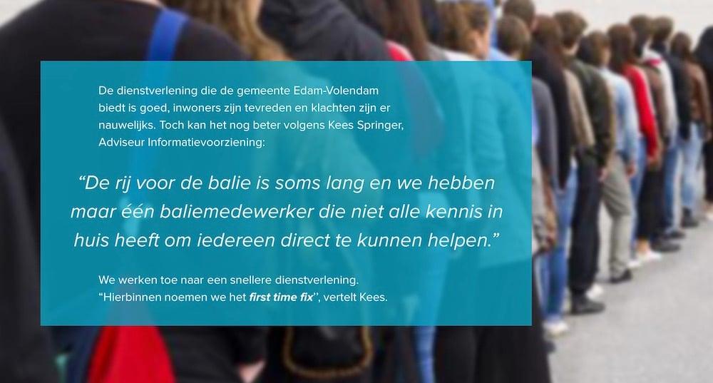 JOIN Klantcontact First time fix Edam-Volendam